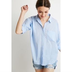 Abercrombie Fitch Oversized Buttoned Blue Shirt